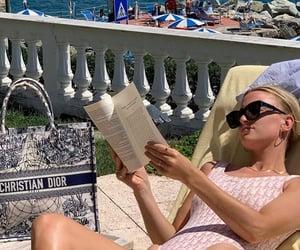 beach, bikini, and books image