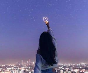 красиво, вечер, and сердце image