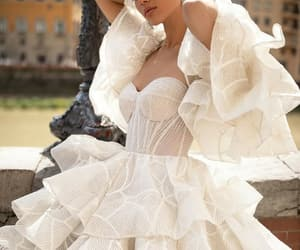 dress, bride, and Couture image