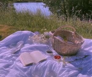 basket, kawaii, and blueberries image