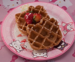 hello kitty, waffles, and cute image