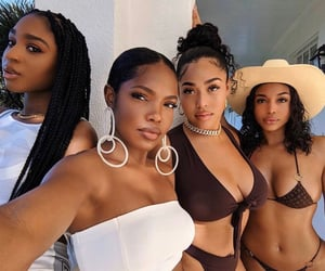 normani, lori harvey, and jordyn woods image
