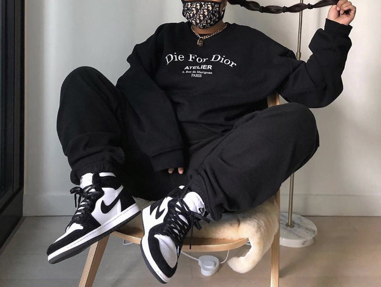black, nike, and dior image
