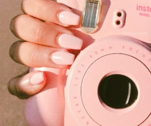 aesthetic, pink, and poloroid image