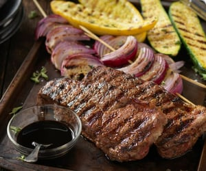 beef, meat, and food image
