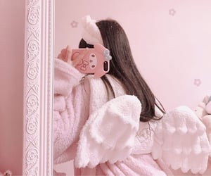 pink, angel, and soft image