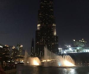 city, dark, and Dubai image