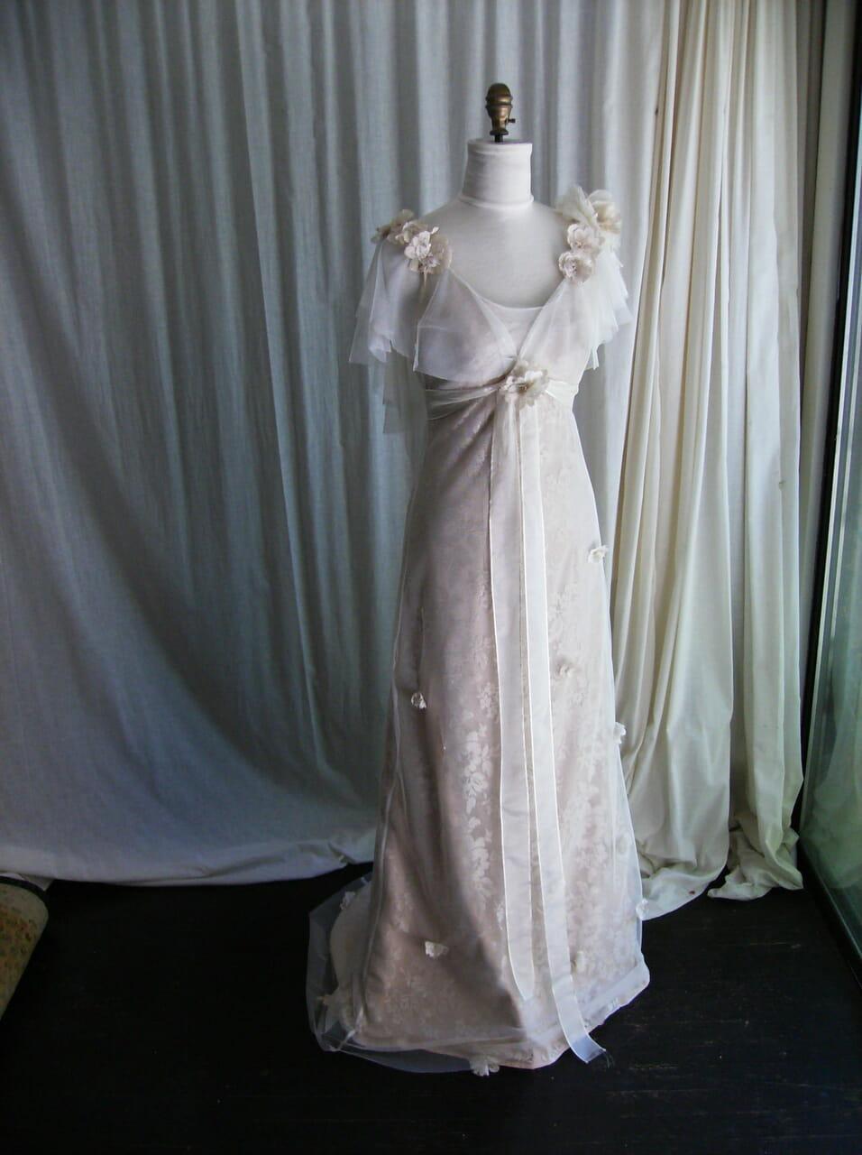 vintage wedding dress, wedding dresses, and amy jo tatum image