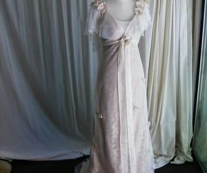 vintage wedding dress, lace wedding dress, and amy jo tatum image