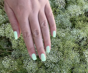 green, yellow, and nails image