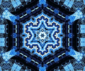 color, the color blue, and altered image
