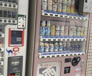 vending machine and pastel image