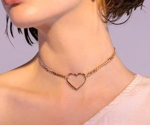 choker, heart, and necklace image