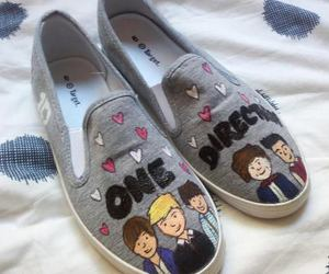 one direction, shoes, and 1d image
