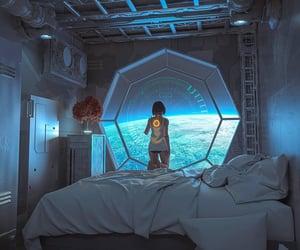 alone, futuristic, and girl image