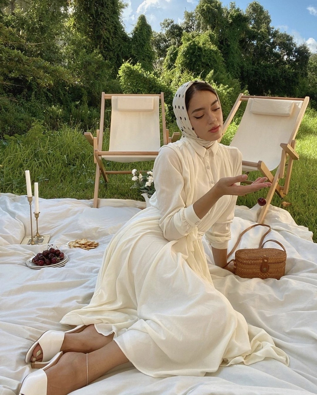aesthetic, fashion, and picnic image