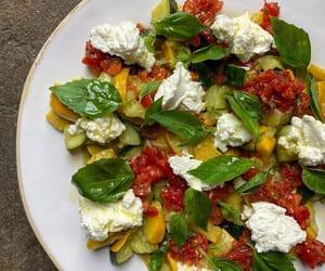 salad, tomato, and italian food image