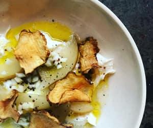 burrata cheese, jerusalem artichoke, and mustard vinaigrette image