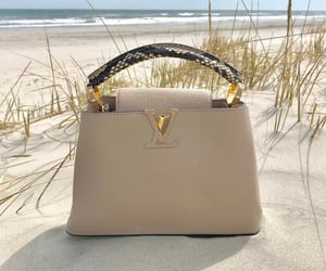 bag, beige, and chic image