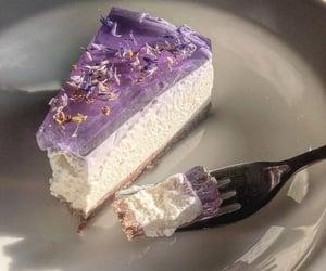 cake, purple, and food image