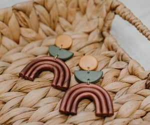 etsy, polymer clay earring, and handmade earrings image