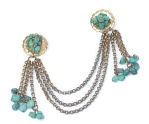 1940s fashion, etsy, and turquoise brooch image