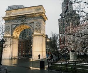 new york city, washington square park, and nyc image