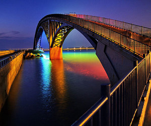 bridge and rainbow image