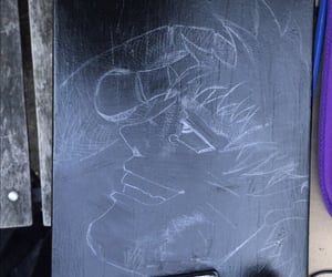 anime, pencils, and black image