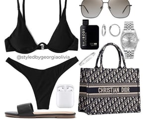 dior, swimsuit, and Polyvore image
