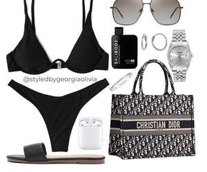 dior, swimwear, and Polyvore image