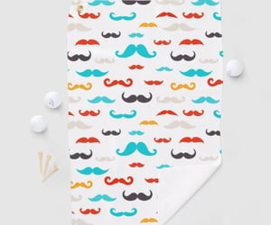 moustache and towel image
