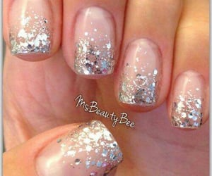 manicure, glitter nails, and nails image