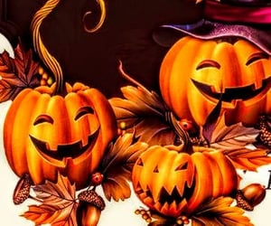 fall, Halloween, and leaves image