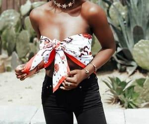 bandana, fashion, and style image
