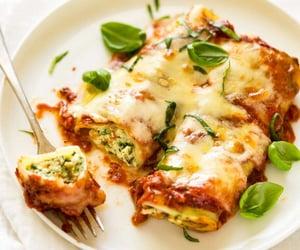 food, pasta, and ricotta image