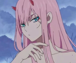 anime, icon, and zero two image