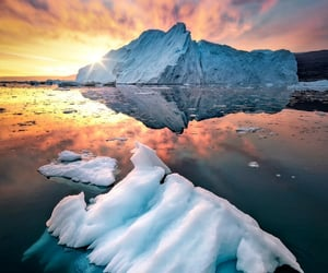 beautiful scenery, ice cold, and icebergs image