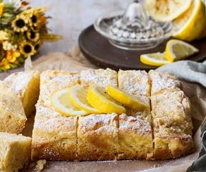 cake, lemon, and cream cheese image