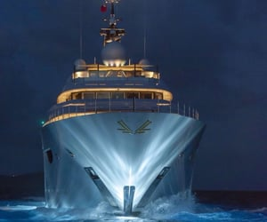 boat, luxery, and lights image