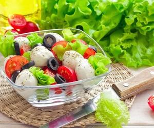 food, salad, and mozzarella image