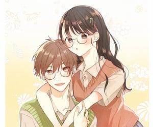 artwork, illustration, and anime couple image
