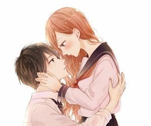 anime, original art, and love image