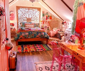 розовый, красиво, and комната image