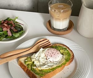 avocado, breakfast, and cafe image