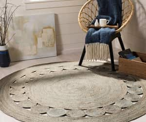 etsy, braided rug, and round rugs image