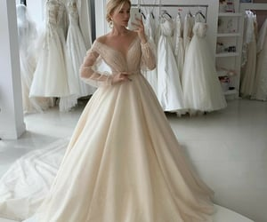atelier, beautiful, and bride image