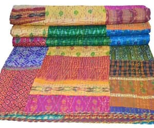 etsy, patchwork quilt, and patchwork bedding image