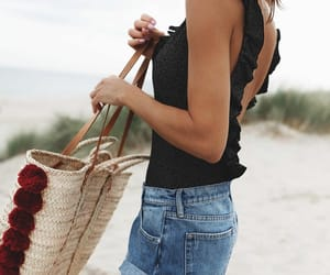 beach, fashion, and summer look image