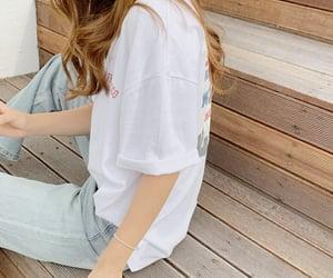 asian girl, selfie, and kfashion image